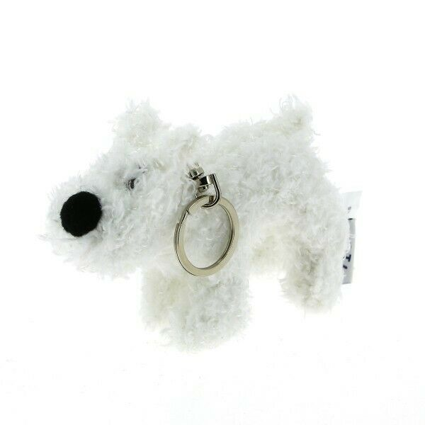 Snowy soft toy plush key ring Tintin official product