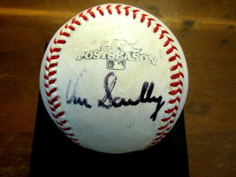 VIN SCULLY DODGERS BROADCASTER SIGNED AUTO 2013 GU'ED POSTSEASON BASEBAL... - $692.99