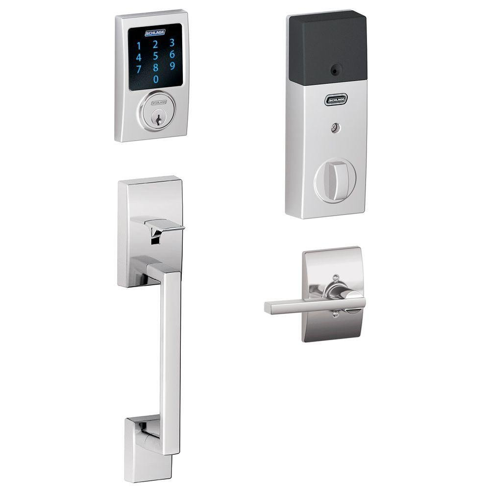 Schlage Connect Century Touchscreen Deadbolt with Built-In Alarm and Handleset G