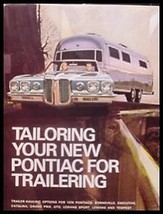1970 Pontiac Trailer Towing Brochure GTO LeMans - $7.17