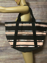 VICTORIA'S SECRET LARGE TOTE BLACK PINK EUC 2018 LIMITED EDITION - $14.50
