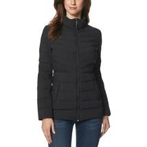 32 Degrees Women's 4-Way Stretch Puffer Jacket Light Weight Black Size Medium