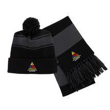 2nd Armored Division Embroidered Scarf & Pom Beanie Set - $39.99