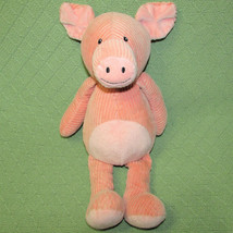 "Melissa Doug PINK PIG STUFFED ANIMAL Ribbed Corduroy Floppy Plush 15"" Lo... - $18.70"