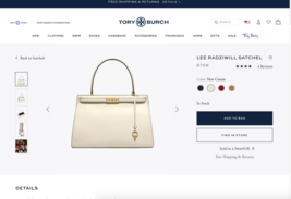 Tory Burch Lee Radziwill Satchel - $588.00
