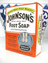 JOHNSON'S Foot Soap Soak Powder Borax, Iodide, & Bran Packets 4 Each - $9.89
