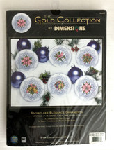 """Dimensions 8685 Cross Stitch Gold Collection Snowflake Elegance Ornaments 4"""" - $49.49"""