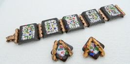 VTG RARE MATISSE RENOIR Copper Brown Colorful Enamel Copper Modernist Set - $99.00