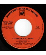 Peter Paul Mary Leaving On A Jet Plane 45 rpm This House Song Canadian P... - $6.64