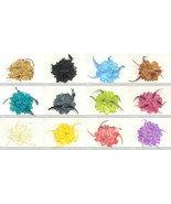 Lady Feather Flash Powder Glitter Flower Brooch Pin Bridal Party Hair He... - $5.95