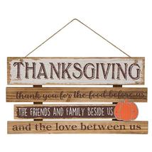 Happy Thankful Thanksgiving Hanging Slat Sign - $49.49
