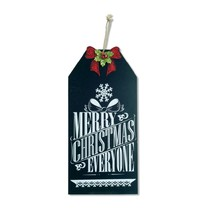 """Melrose 19.25"""" Merry Christmas Hanging Chalkboard Sign Holiday Decor - $21.77"""