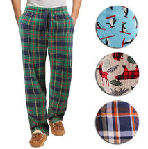 Men's Flannel Fleece Drawstring Sleep Lounge Pants Super Soft Pajama Bottoms