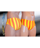 Thunderbox Nylon Spandex Mens Orange & Yellow Stripe Brief S, M, L, XL - $25.00