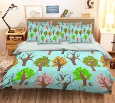 3D Colour Plant Trees 29 Bed Pillowcases Quilt Duvet Single Queen King US Summer - $102.84+