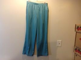 Alfred Dunner Teal Blue Pants w Elastic Waist Sz 12