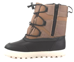 Cat & Jack Boys' Black Brown Ivan Thermolite Zippered Winter Boots NWT image 2
