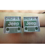 """Men's Sporty Custom Hand Made """"Only In A Jeep"""" Logo Cuff links - Car Aut... - $24.50"""