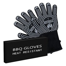 EN407 Certified,BBQ Grill Gloves,932°F Extreme Heat Resistant Non Slip K... - $18.30