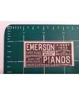 1889 Emerson Piano Co. Advertisement Boston, Mass. - $20.00