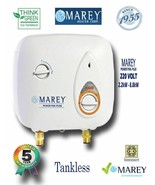 Water Heater Electric Tankless 2.5 GPM 220V Best Tiny House Marey PP220 - $186.99