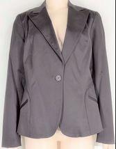 womyn jacket coat NWT SZ 8 dark brown 1-button closure lined NYC USA new image 7