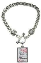 Only the Best Moms Get Promoted to Mamaw Silver Toggle Bracelet Jewelry ... - $13.80
