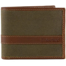Timberland Men's Hunter Leather Waxed Canvas Credit Card ID Passcase Wallet image 10