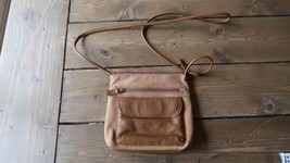 Vintage Stone Mountain Leather Cross Body Purse 7 x 6.5 inches - $50.05