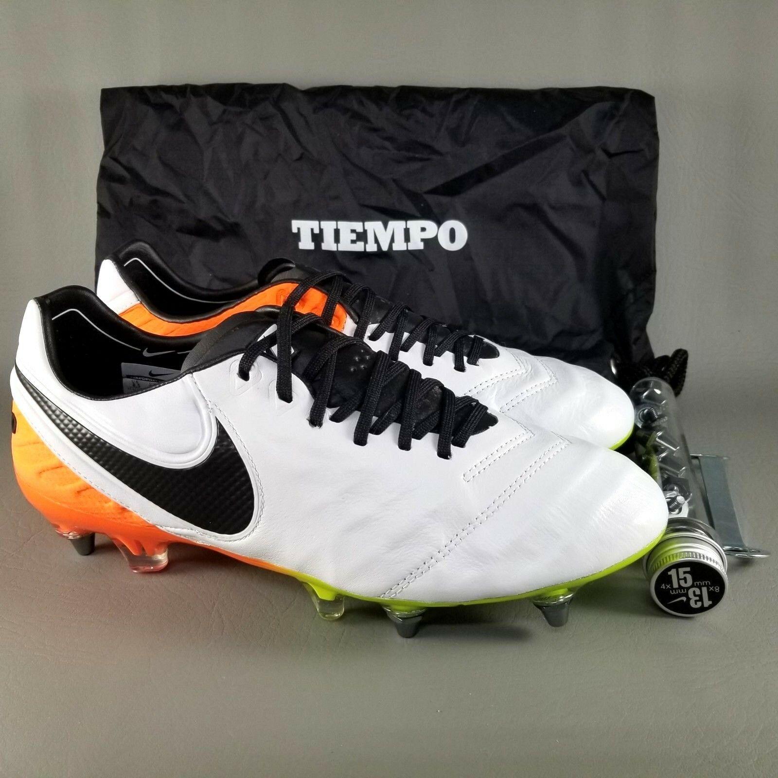 2e5d3b8d269 57. 57. Previous. Nike Tiempo Legend VI 6 SG PRO ACC Leather Soccer Cleats  SZ 8.5 Men White Orange