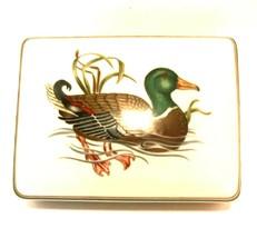 Fitz and Floyd Playing Card Box Porcelain Mallard Duck Lid 2 Sealed Card... - $27.72
