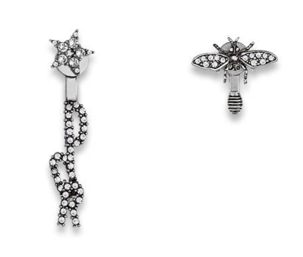 Authentic Dior 2017 Dio R Evolution Earrings Crystal Bee 439 99