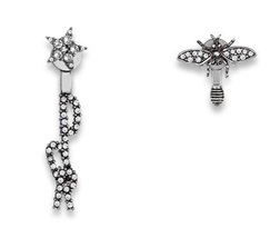 "Authentic Christian Dior ""DIO(R)EVOLUTION"" EARRINGS Crystal Bee"