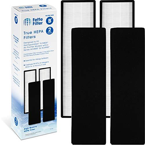 Fette Filter HEPA Filter and Pre-Filter Compatible with GermGuardian FLT4825 Air