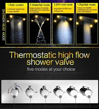 "Ceiling Mounted LED Rain Shower System, 23""x31"" Oil Rubbed Bronze - $3,266.99"