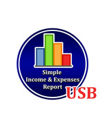 Simple Income And Expenses Report Program for Windows Computer PC Accoun... - $16.13
