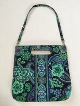 Vera Bradley Blue Rhapsody Holiday Tote Detachable Strap Purse Handbag Floral - $18.99