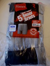 Boy's Hanes Boxer Briefs Small 6-8 Tagless 5 Pack Grays & Black NEW - $12.86