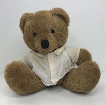 "Dakin Teddy Bear Brown 1985 Plush Stuffed Vintage With Shirt 8"" - $10.84"