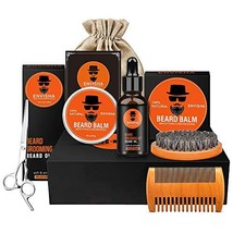 Envisha 8 in 1 Beard Grooming Kit, Ultimate Beard Kit for Men Contains Unscented