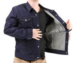 Levi's Men's Premium Cotton Button Up Denim Jeans Jacket Dark Blue 723350039 image 5