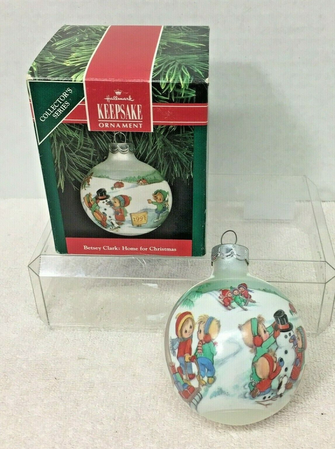 Primary image for 1991 Betsey Clark #6 Hallmark Christmas Tree Ornament MIB Price Tag Q3