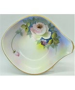 Noritake M Handpainted Candy/Nut Dish Gold Trim with Handle ~ Made in Japan - $14.85