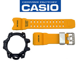 Genuine Casio G-Shock Mudmaster GWG-1000-1A9 Yellow Watch Band Black Bez... - $175.67 CAD