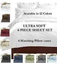 6 PIECE DEEP POCKET 2100 COUNT LUXURY COMFORT SERIES SUPER SOFT BED SHEE... - $24.95+