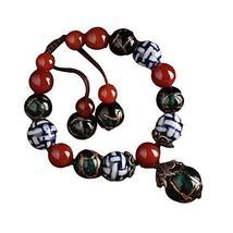 Ceramic Glass Metal Agate Bracelets Charm Bracelets Hand Made Bracelet