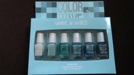 WET N WILD - COLOR WAVE - 6 mini nail polish collection - wild shine - N... - $6.99