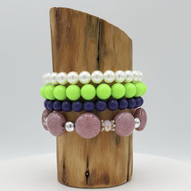 Fashion Stretch Bracelets Stack of Four - $20.00