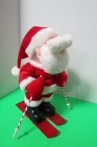 Dept 56 Rockin Rollers Santa Skier Musical Singing Plush W/Box Tested Video - $21.78