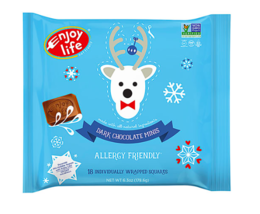 Keto Candy: Enjoy Life Holiday Chocolate Minis Dark Chocolate bag (4 net... - $19.31
